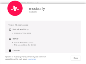 Musical.ly App Permissions